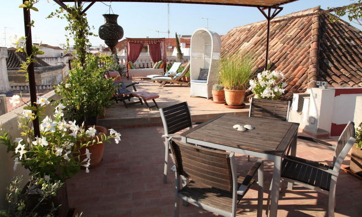 roof terrace, shared area for the 5 accommodations